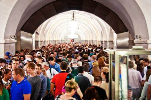 Moscow Metro Crowds