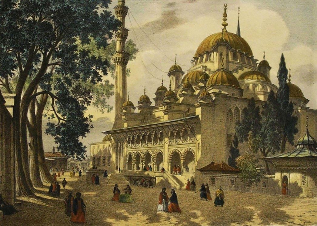 Yeni Cami by Eugene Flandin