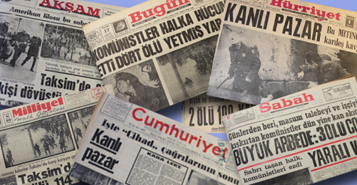 Newspapers about Bloody Sunday