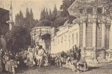 The sultan leaving Eyüp, 19th century. T. Allom