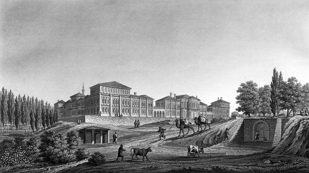 View of the Military Barracks and the Park of Pera by Charles Pertusier