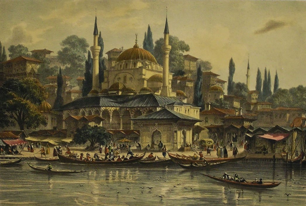 View of the port of Üsküdar by Eugene Flandin