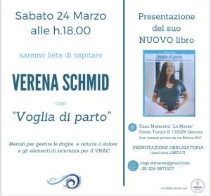 Verena Schmid presenterà il suo ultimo libro Voglia di parto @ Red Yoga | Genova | Liguria | Italia