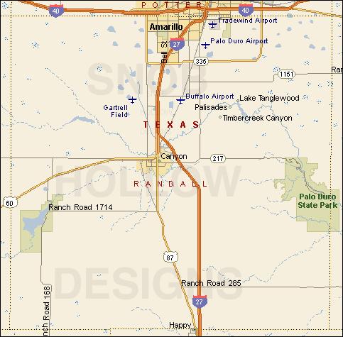 move to canyon texas map