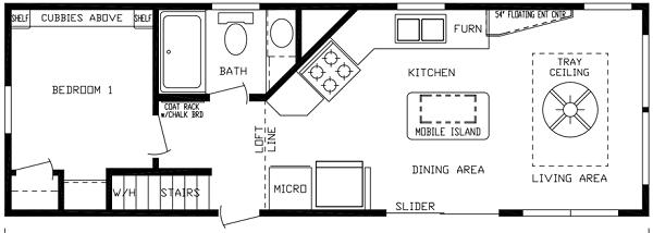 park model floor plan