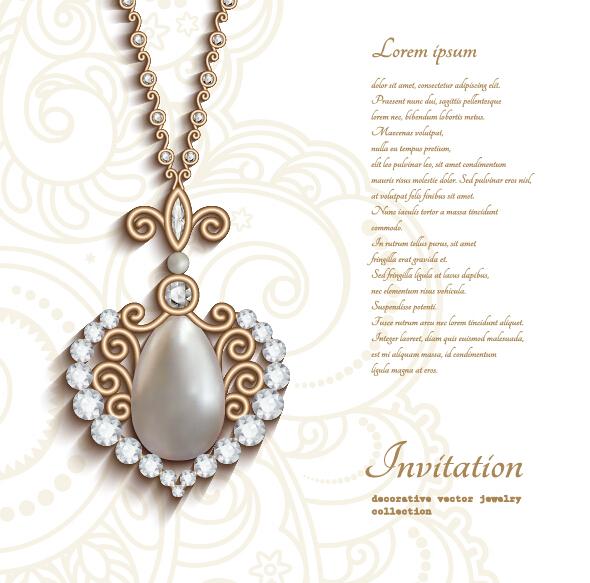 Jewellery invitation card vector inviview jewelry decorative with invitation card vector 04 welovesolo stopboris Choice Image