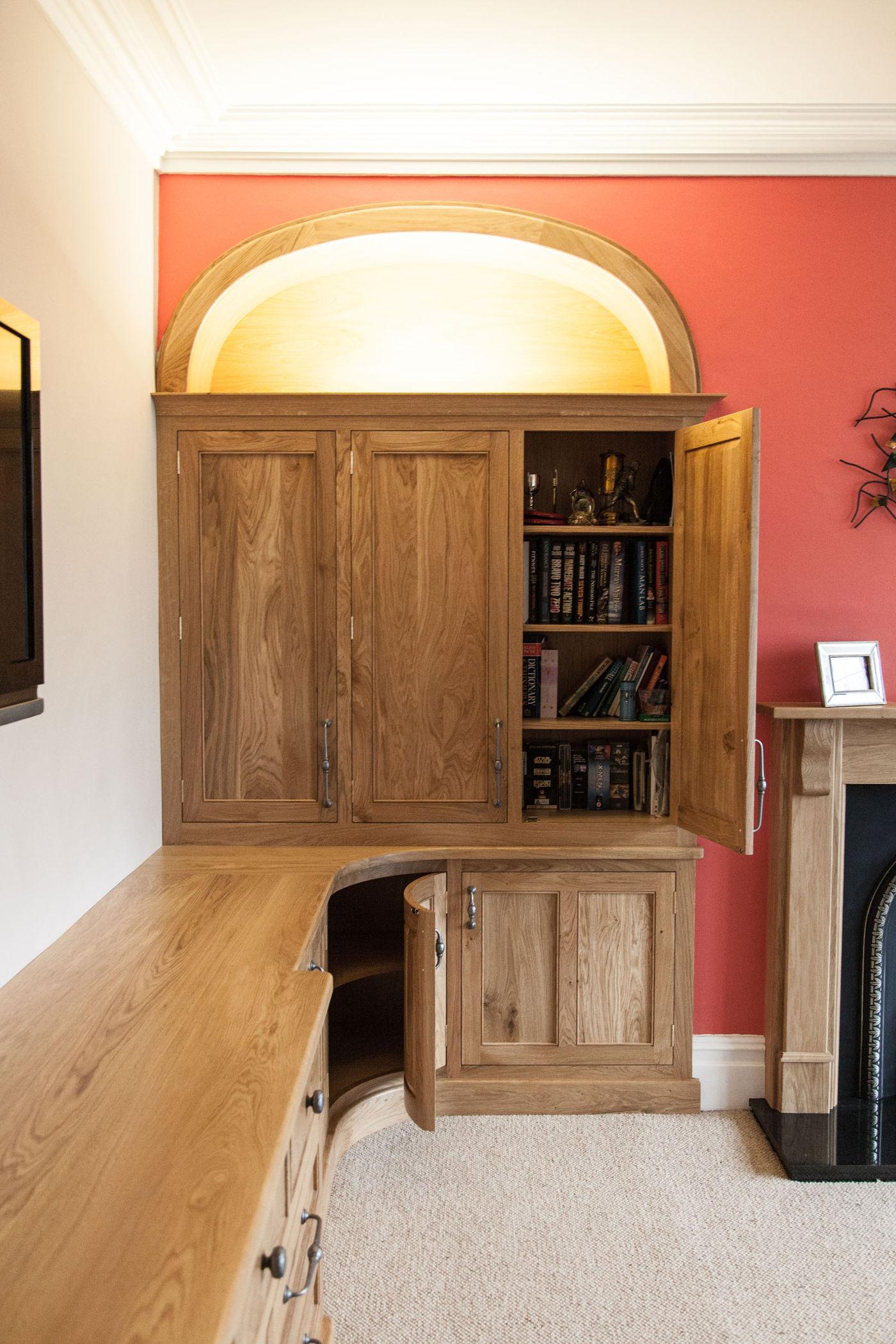 Curved Oak Furniture Lincoln Mark Stones Welsh Kitchens