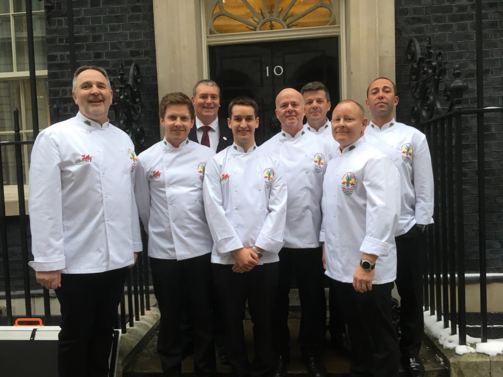 e75c9c0f0958b5 The team of chefs representing the Culinary Association Wales outside 10