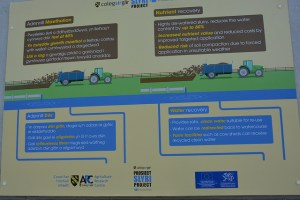 slurry project at coleg sir gar Prosiectslyri Project project advantage board in close up