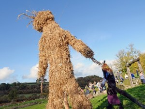 halloween events at castell henllys buring the wicker man