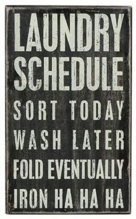 laundry schedule sign, laundry wall art
