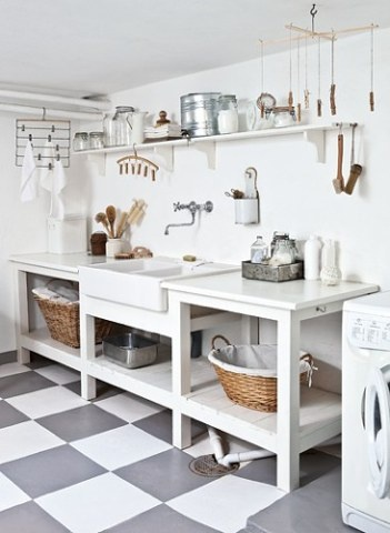 old fashioned laundry room