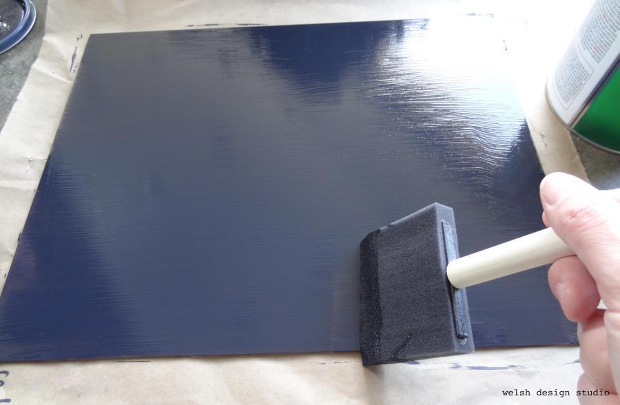DIY easy chalkboard frame