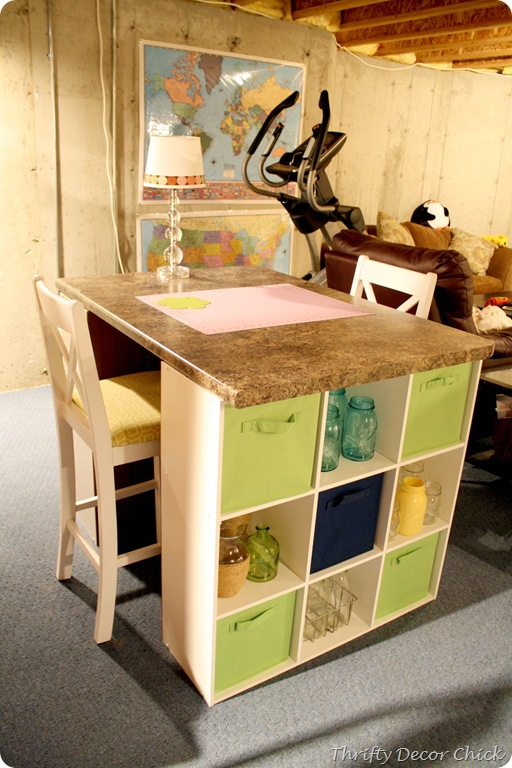 thrifty decor chick craft table