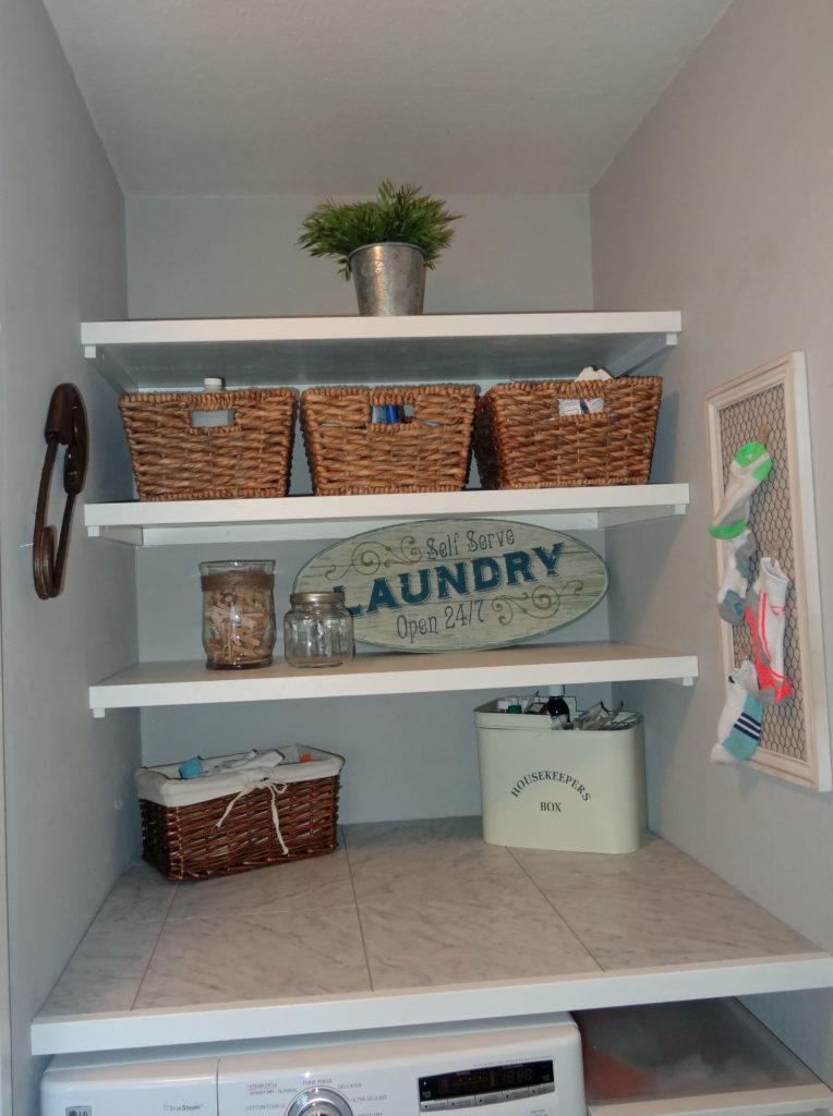 floating laundry shelves