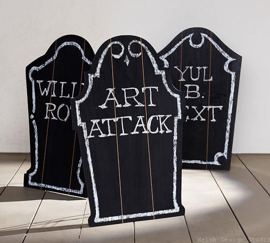pottery barn chalkboard tombstone knockoff