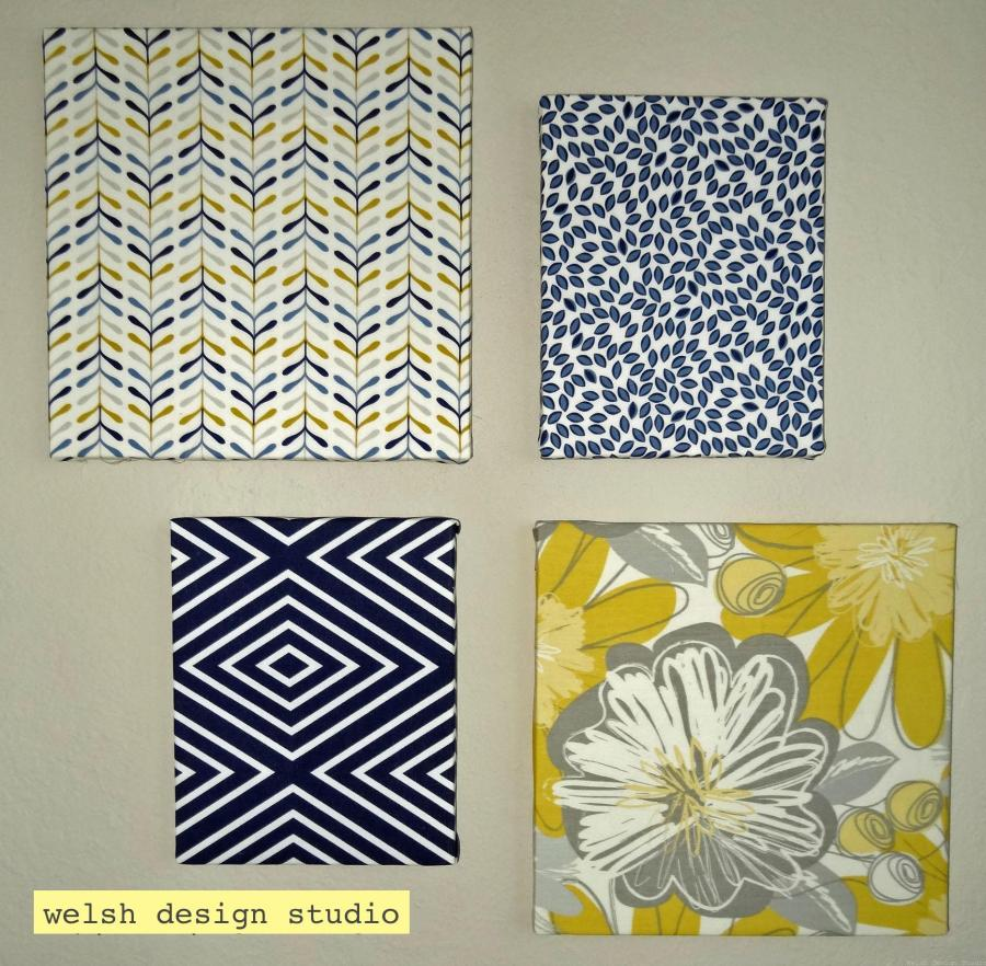 easy diy fabric covered canvas art