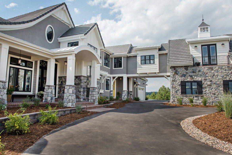 gray hamptons house exterior parade of homes