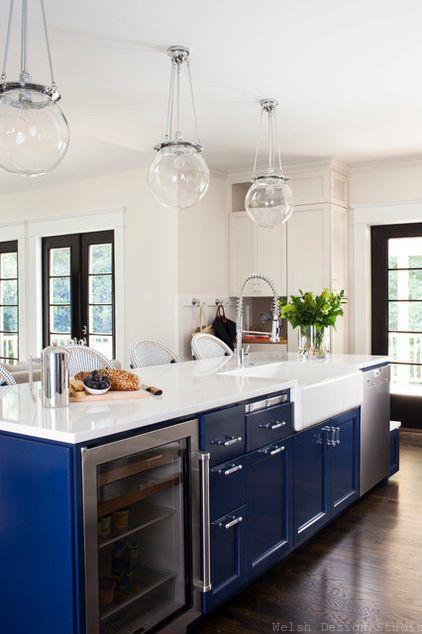 navy blue cabinets coastal surf
