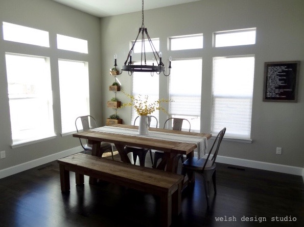 industrial farmhouse metal chairs dining room