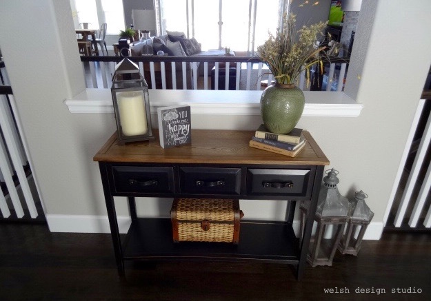 front entry table in new home