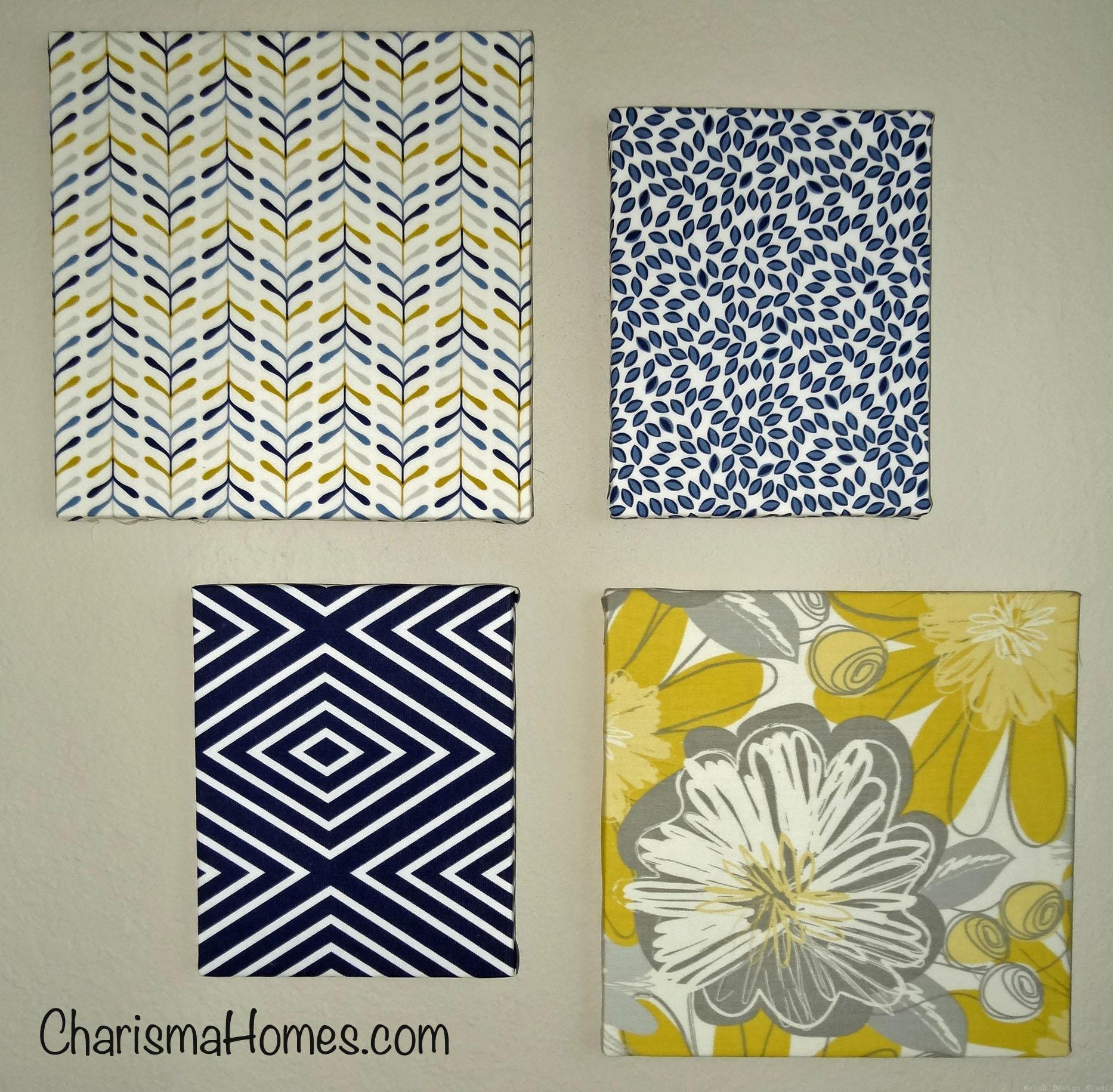 easy fabric canvas wall art