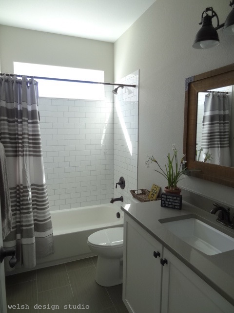industrial farmhouse guest bath