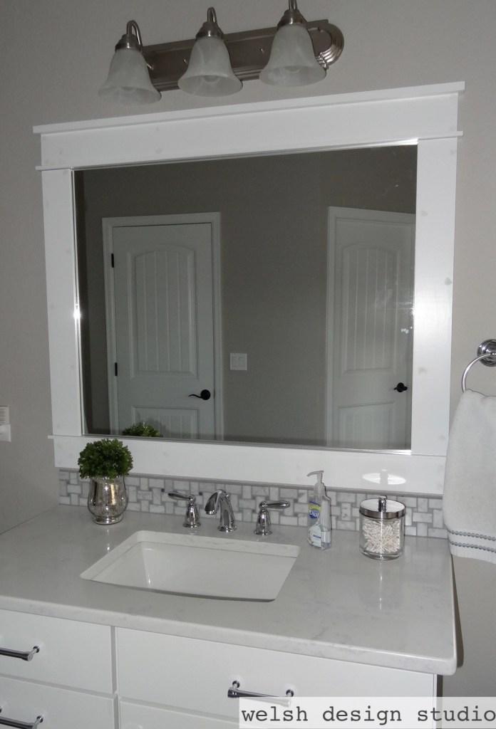 Diy Framed Bathroom Mirrors Welsh Design Studio
