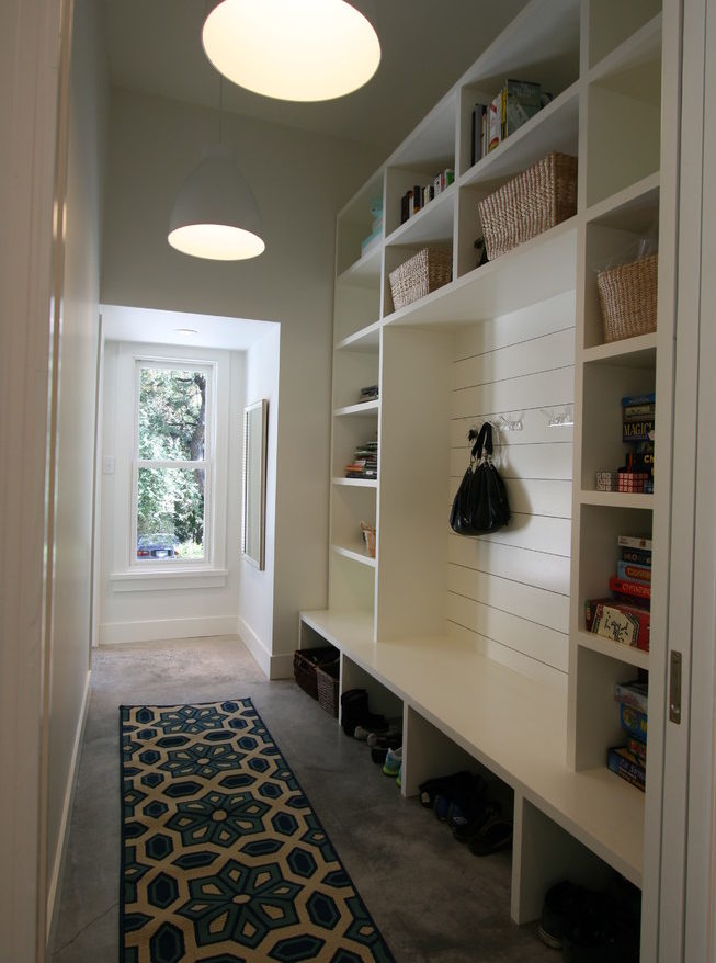 mudroom cubbies with bench
