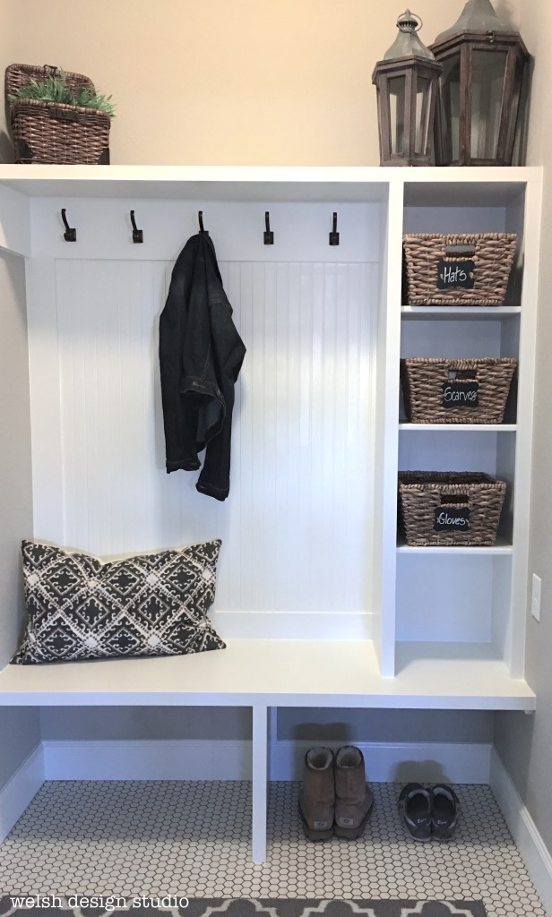 custom mudroom makeover design
