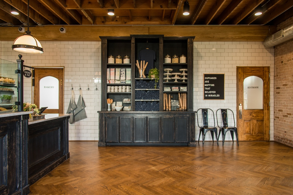 fixer upper bakery black distressed cabinets