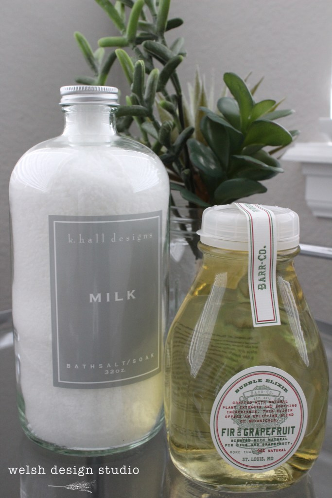 bath products for decorating