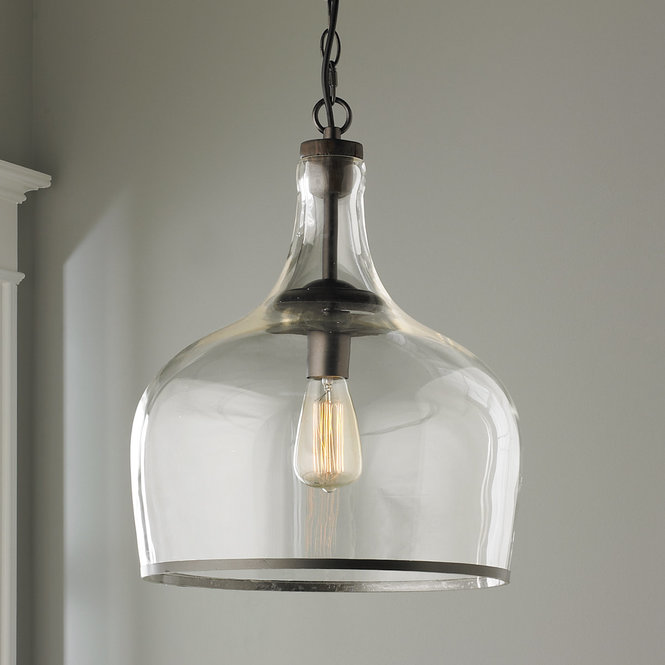 shades of light glass pendant for farmhouse kitchen