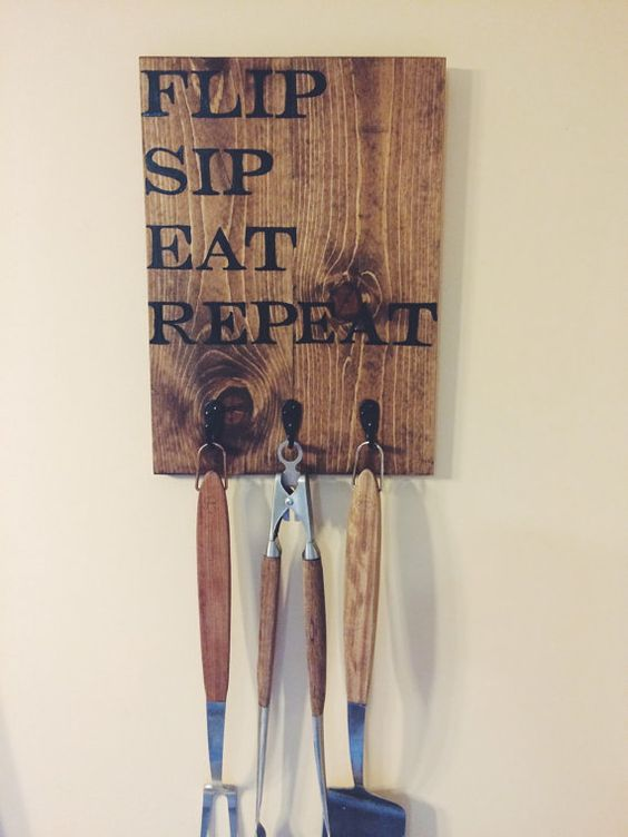 bbq tool holder sign