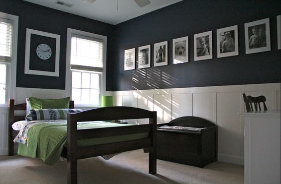 navy and green teen bedroom, color schemes for a boy's bedroom