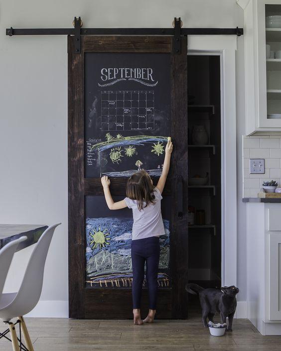 chalkboard barn door