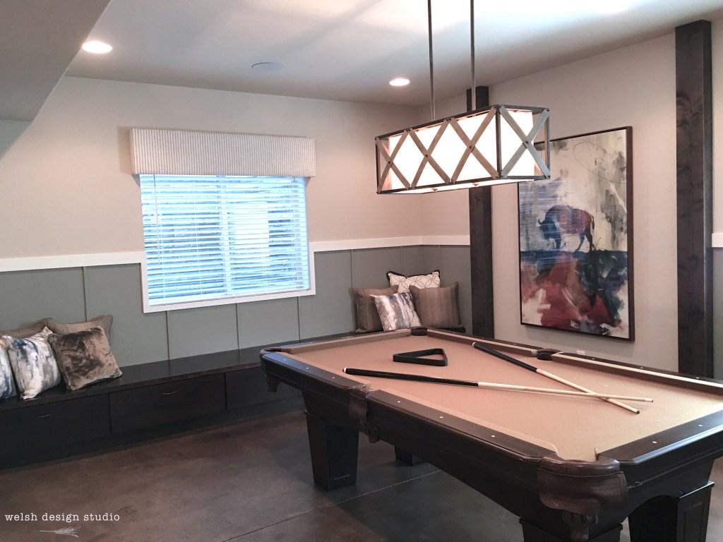 basement billiard room