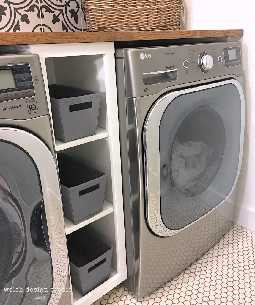 laundry room built-in cabinet