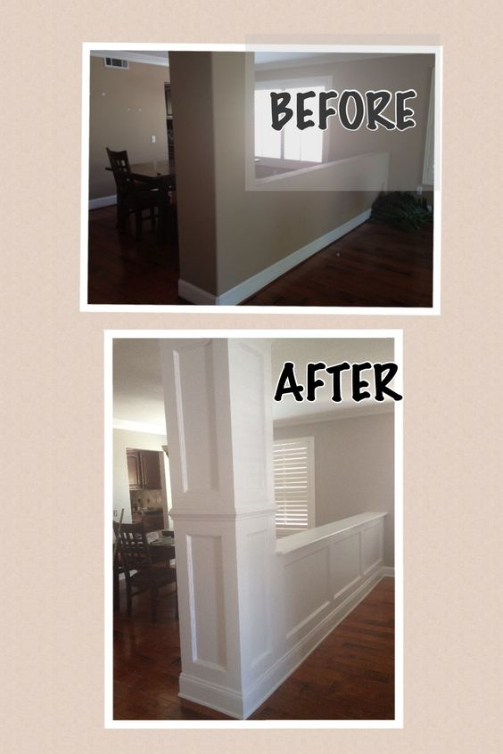 wainscoting before after