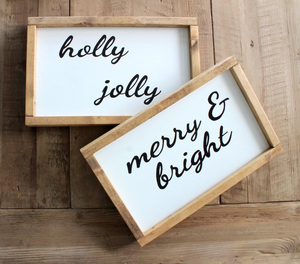 christmas wood signs