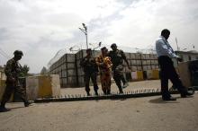 Vorbereitungen an der französischen Botschaft im Jemen