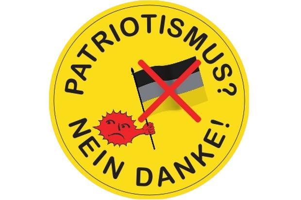 Grüne Stolpern über Ihren Anti Patriotismus Sticker
