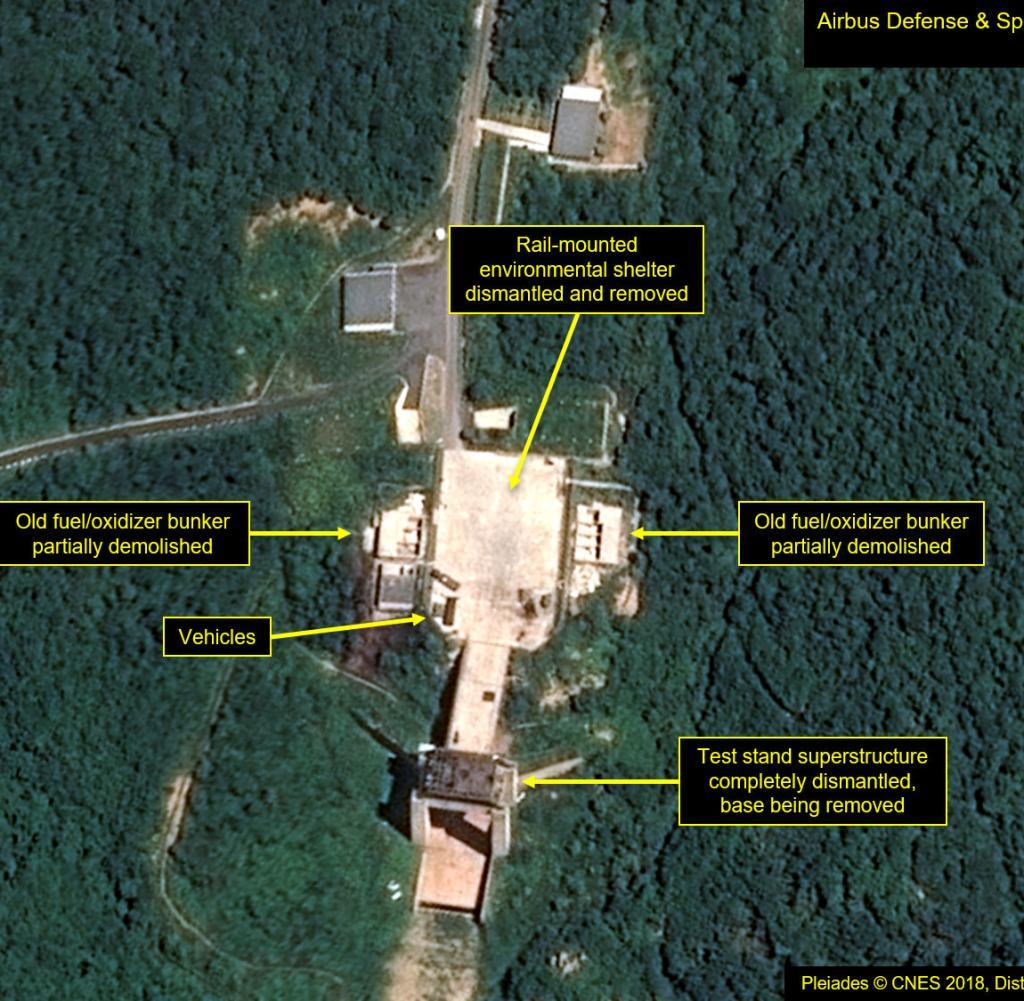 Une image satellite devrait montrer le démantèlement de l'usine de Sohae