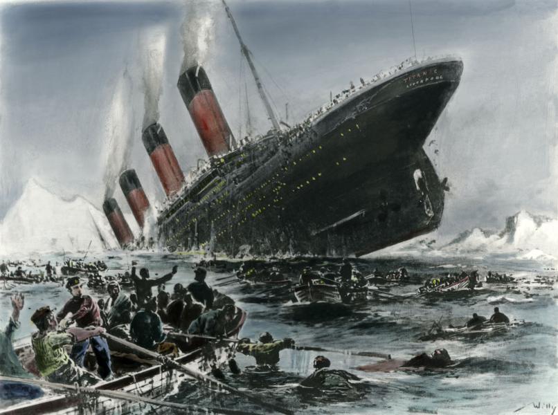 """So wie die """"Titanic"""" einst auf den Eisberg zuraste, hat Europa einen ähnlich kritischen Punkt erreicht. Es herrscht nackte Angst vor dem Untergang"""