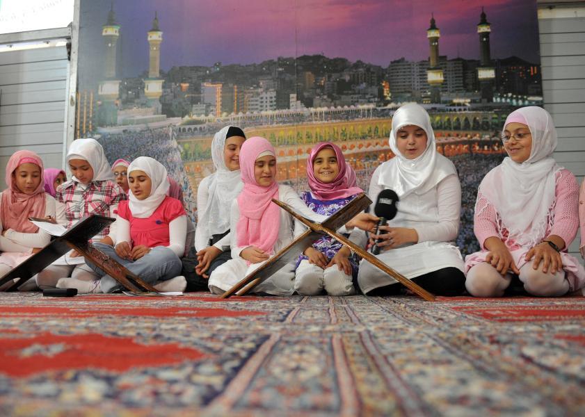 Kinder in Moschee