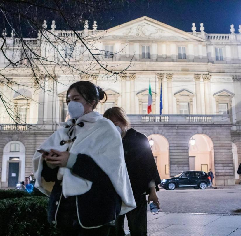 The Teatro alla Scala due coronavirus emergency suspends all the scheduled performances following the regional provisions in Milan, ITALY-23-02-2020 |