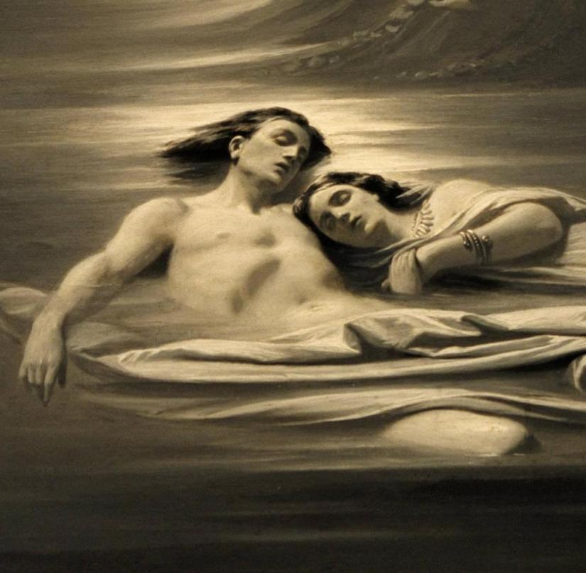 Not a good role model: Hero and Leander, painted by Karl Theodor von Piloty