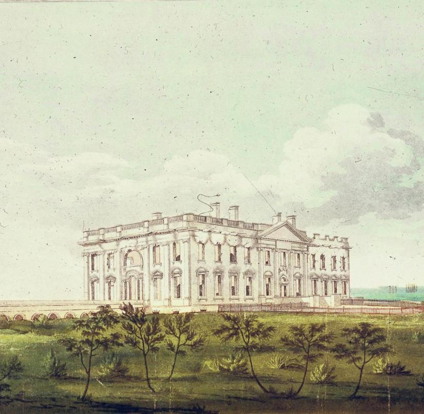 How it all began: the classicist White House, seat of the US President, around 1800