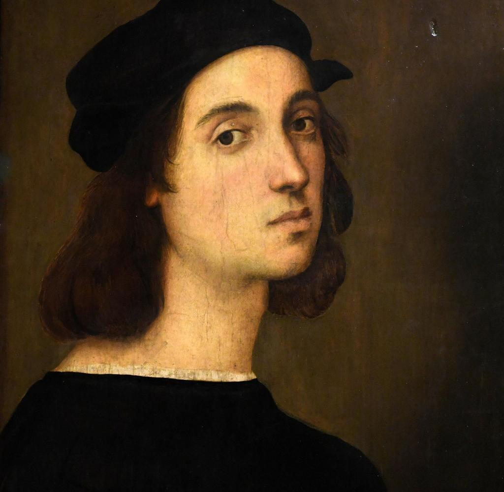 'Self portrait' by Italian Renaissance master Raphael displayed at the exhibition 'Raffaello' at the Scuderie del Quirinale in Rome, Italy on March 4, 2020. Rome hosts the biggest ever exhibition entirely devoted to Raffaello Sanzio da Urbino, better known as Raphael, on the 500th anniversary of the death of the High Renaissance artist and architect. The exhibition, titled simply 'Raphael' is scheduled from 5 March until 2 June. Photo: Eric Vandeville / ABACAPRESS.COM |