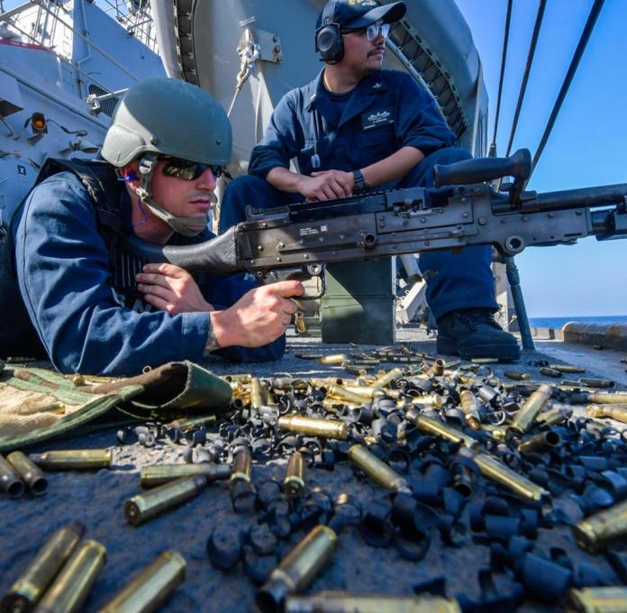 US Navy soldiers in the Gulf of Oman. Poland wants to participate in securing shipping there